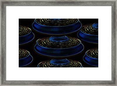 Saucers Framed Print by David Lee Thompson