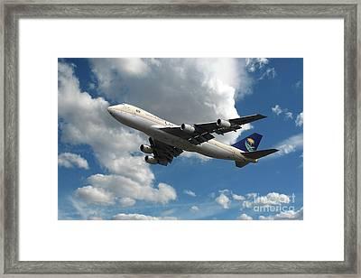 Saudi Arabian Boeing 747 Framed Print