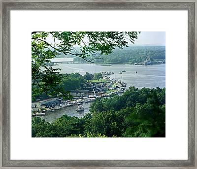 Saugatuck Harbor Framed Print