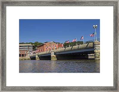 Saugatuck River Bridge Westport Connecticut Framed Print by Stephanie McDowell
