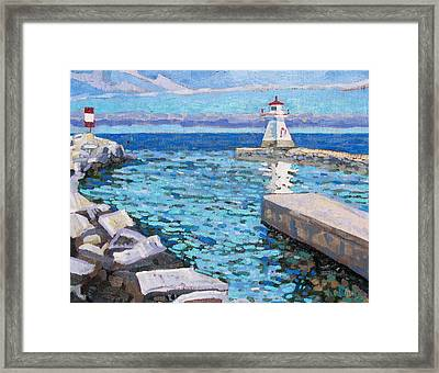Saugeen Range Light Framed Print