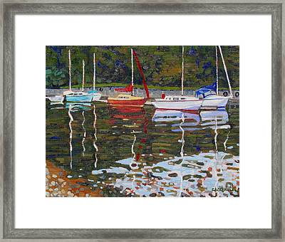 Saugeen Sailboats Framed Print by Phil Chadwick