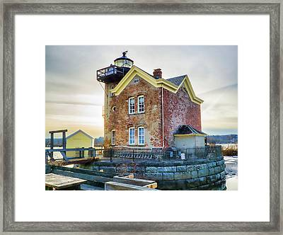 Saugerties Lighthouse Framed Print by Nancy De Flon