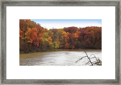 Sauk Lake Autumn Framed Print