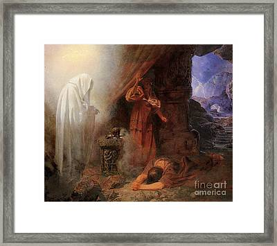 Saul And The Witch Of Endor Framed Print by MotionAge Designs