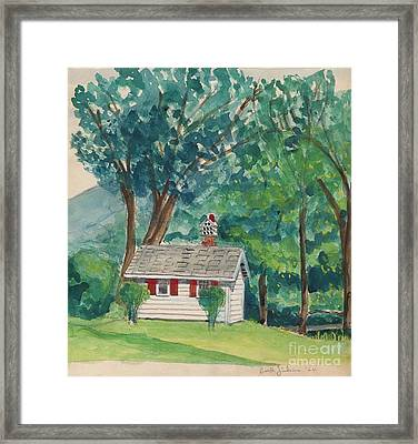 Sauna At Murray Hollow Framed Print by Fred Jinkins