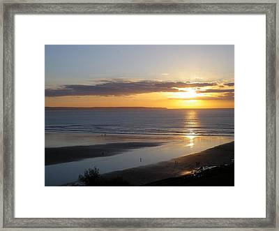 Saunton Sands Sunset Framed Print