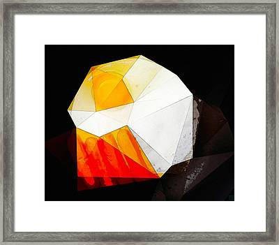 Sausage And Egg Composition Framed Print by Roger Smith