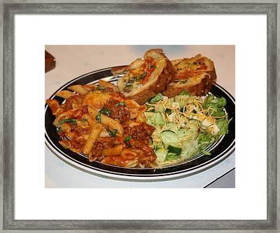 Sausage Meat Pene Rigate Framed Print by Karen M Scovill