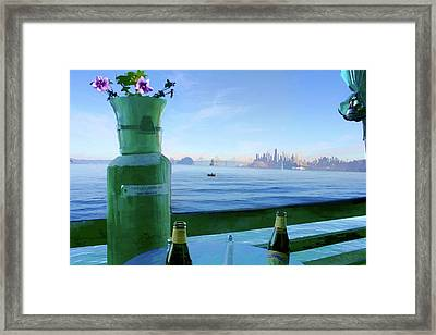 Sausalito Cafe Framed Print by Michael Cleere