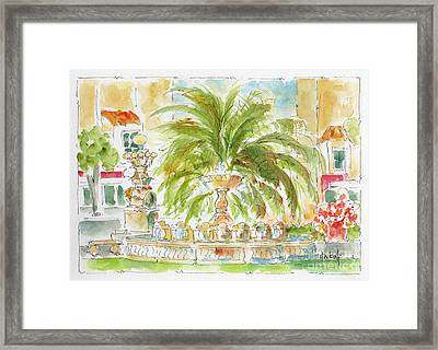 Sausalito Fountain Framed Print by Pat Katz