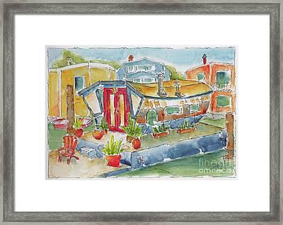 Sausalito Houseboat Framed Print