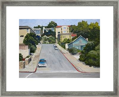 Sausalito Street Framed Print by Maralyn Miller