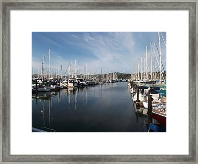 Sausalito Yacht Harbor - The Best Harbor In The San Francisco Bay Area. Framed Print