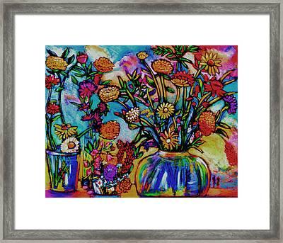 Sauvie Island Flowers Framed Print by Angelina Marino