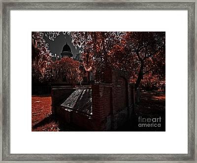 Savanna Georia Colonial Park Cemetery Color Infrared 500 Framed Print by Rolf Bertram