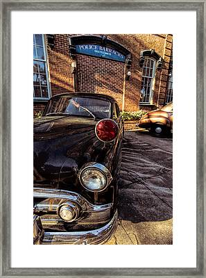 Savannah Antique Police Car Framed Print