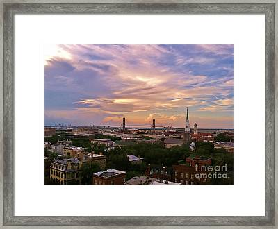Savannah At Sunset Framed Print by Marilyn Carlyle Greiner