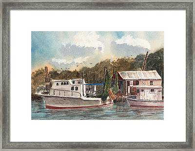 Savannah Bait - Coastal Watercolor Framed Print by Barry Jones