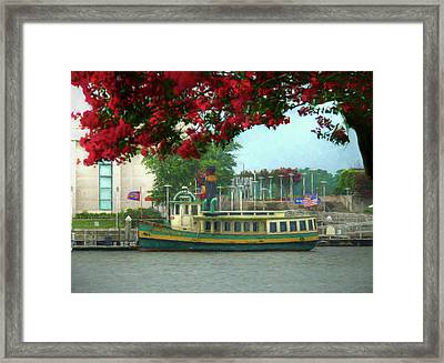 Savannah Belles Ferry - The Susie King Taylor Framed Print by John Adams
