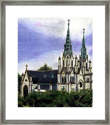 Savannah Cathedral Framed Print by Scarlett Royal