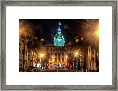 Savannah City Hall Framed Print
