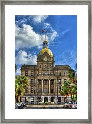 Savannah City Hall Savannah Georgia Art Framed Print