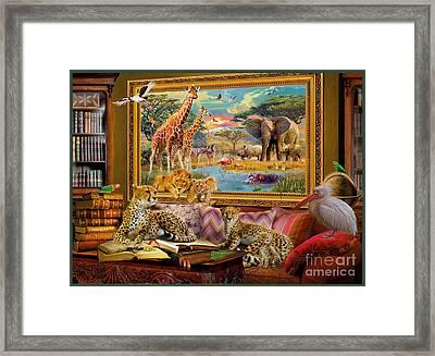 Savannah Coming To Life Framed Print by Jan Patrik Krasny