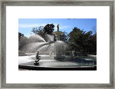 Savannah Fountain Framed Print by Carol Groenen