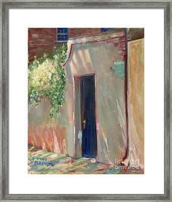 Savannah Garden Gate Framed Print