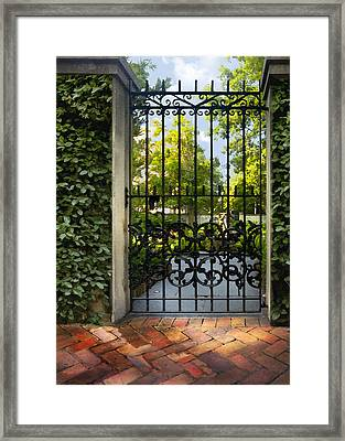 Savannah Gate II Framed Print