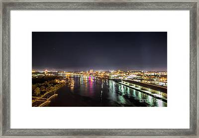 Savannah Georgia Skyline Framed Print