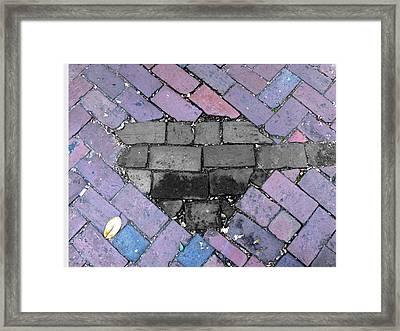 Savannah Gray Framed Print