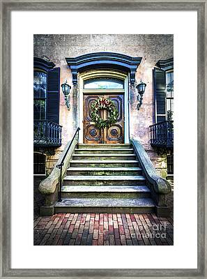 Framed Print featuring the photograph Savannah House 5 by Anthony Baatz