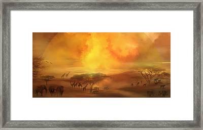 Savannah Landscape Framed Print by Carol Cavalaris