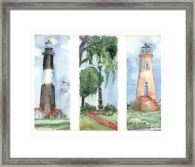 Savannah Lighthouses Framed Print