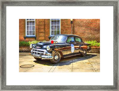 Savannah Police Car 1953 Chevrolet  Framed Print