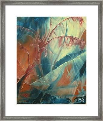 Framed Print featuring the painting Savannah by Renate Nadi Wesley