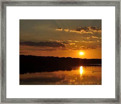 Savannah River Sunset Framed Print