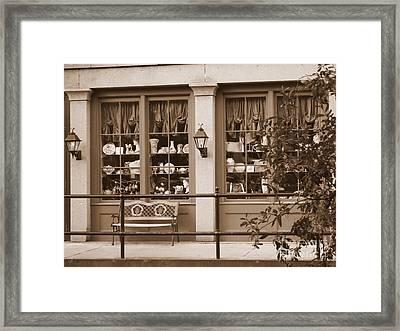 Savannah Sepia - Antique Shop Framed Print by Carol Groenen