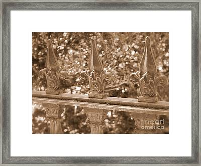 Savannah Sepia - Finials Framed Print