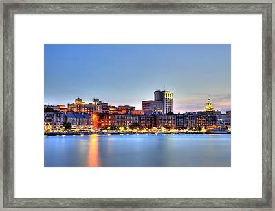 Savannah Skyline Framed Print