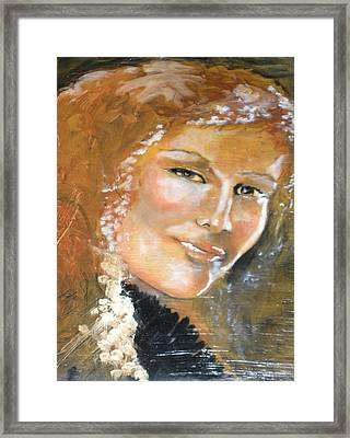 Savannah Smiles Again Finished Framed Print by J Bauer