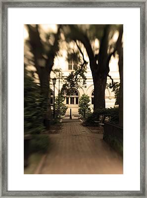 Savannah Square Framed Print by Sandy Belk