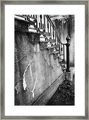 Savannah Stairway Black And White Framed Print