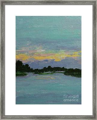 Savannah Sunrise Framed Print by Gail Kent
