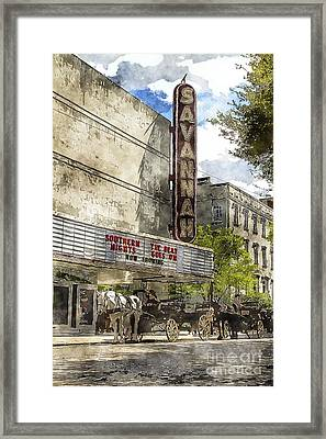 Savannah Theatre Framed Print