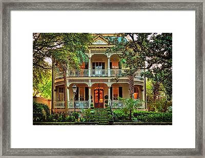 Savannah Victorian Framed Print by Diana Powell