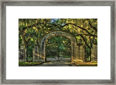 Savannah's Wormsloe Plantation Gate Live Oak Alley Art Framed Print