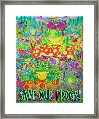 Save Our Frogs Framed Print
